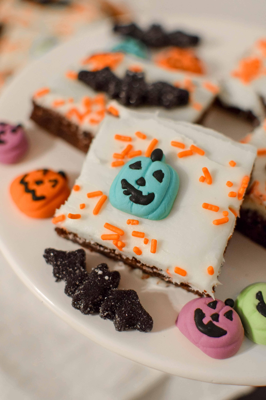 Spooky Sprinkled Brownies Easy Halloween Treat